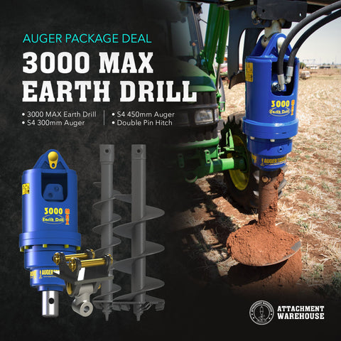 Auger Package 3.0 - 4.0 Ton - Attachment Warehouse