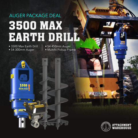 Auger Package 3.5 - 4.2 Ton - Attachment Warehouse