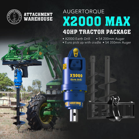 X2000 Max - 40HP Tractor Package - Attachment Warehouse