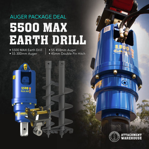 Auger Package 5.5 - 6.5 Ton - Attachment Warehouse