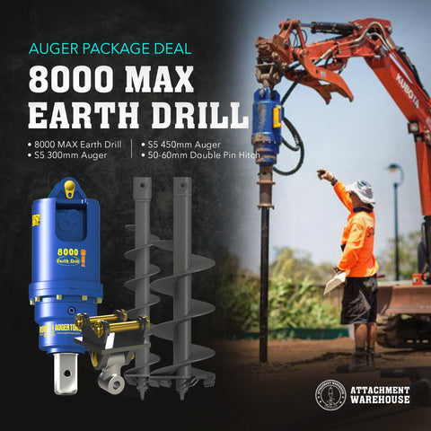 Auger Package 7.0 - 9.0 Ton - Attachment Warehouse