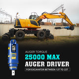 Auger Torque 25000 Max Auger drive - Attachment Warehouse