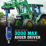 Auger Torque 3000 Max Auger Driver - Attachment Warehouse