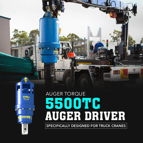 Auger Torque 5500 TC Auger Driver (Truck Crane Only) - Attachment Warehouse