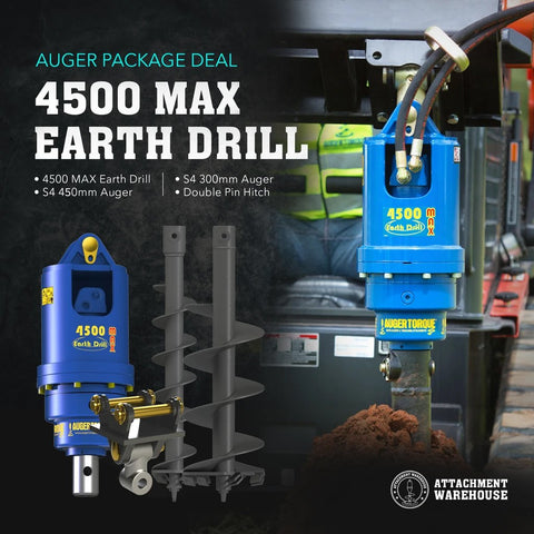Auger Package 4.0 - 5.5 Ton - Attachment Warehouse