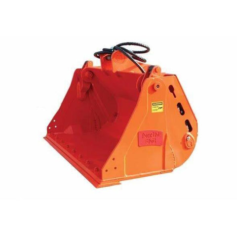Attachment Warehouse 4 in1 Bucket [1000mm O/A] fitted with Front bolt on edge - Attachment Warehouse
