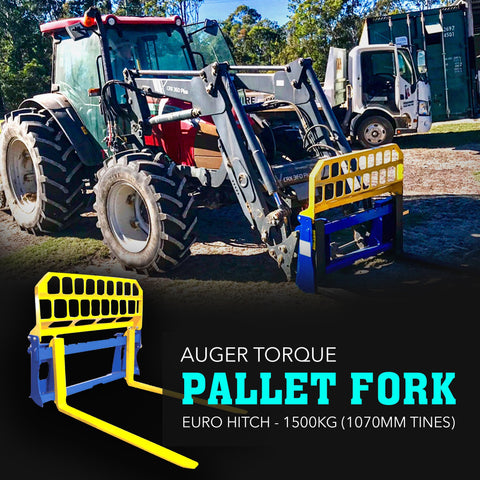 Attachment Warehouse 1500kg Pallet Forks Euro Style Pick-up - Attachment Warehouse