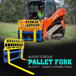 Auger Torque Pallet Forks Multifit - 1500kg (1070mm Tines) FREE FREIGHT AUS WIDE - Attachment Warehouse