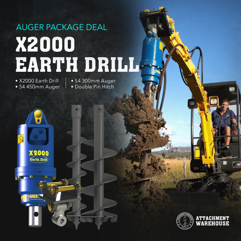 Auger Package 1.2 - 2.2 Ton - Attachment Warehouse