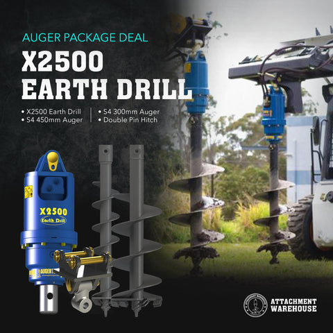 Auger Package 2.2 - 2.8 Ton - Attachment Warehouse
