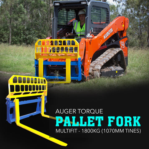 Auger Torque Pallet Forks Multifit - 1800kg (1220mm Tines) - Attachment Warehouse