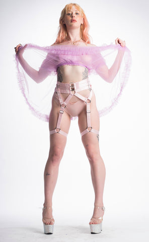 SERPENT GARTER BELT (DUSTED PINK)