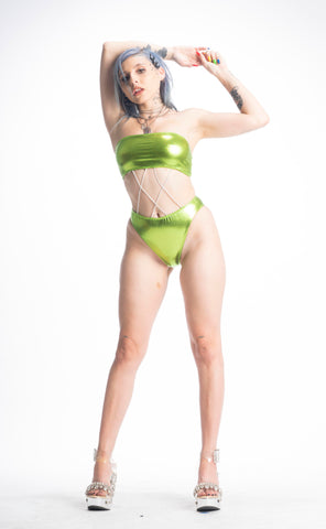 GLAM SLAM ONE PIECE (GREEN)