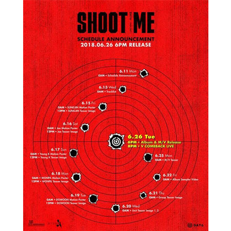 Day6 - Shoot Me : Youth Part 1 (3rd Mini Album) + Unfolded Poster