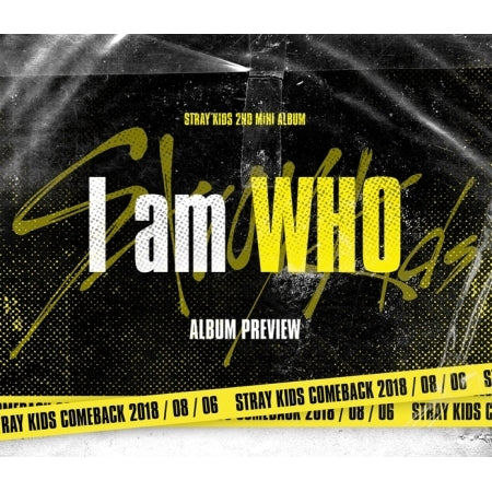 Stray Kids - I Am Who (2nd Mini Album) + Unfolded Poster