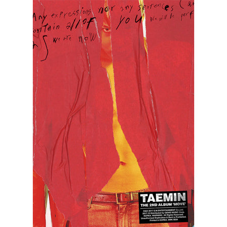 Taemin - Vol. 2 (Move) + Unfolded poster
