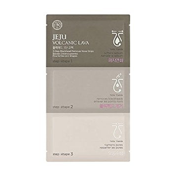 The Face Shop - Jeju Volcanic Lava Blackhead 3 Step Nose Pack