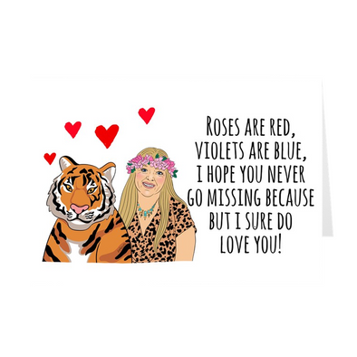 Roses Are Red Violets Are Blue Carole Valentine's Day Card - UntamedEgo LLC.