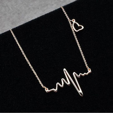 Heartbeat Necklace EKG ECG Necklace