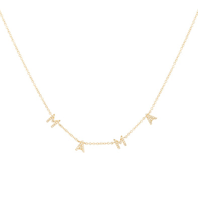 MAMA Diamond Gold Necklace - UntamedEgo LLC.