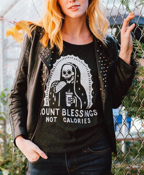 Count Blessings Not Calories Women's Tank