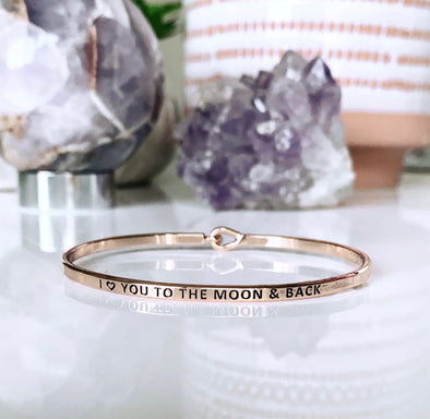 I Love You To The Moon & Back cuff - UntamedEgo LLC.