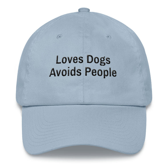 Loves Dogs Avoids People-Dad hat - UntamedEgo LLC.