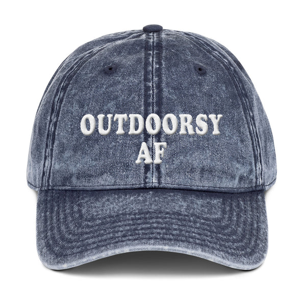 Outdoorsy Af Vintage Dad Hat - UntamedEgo LLC.