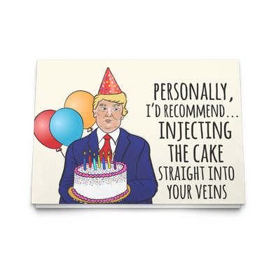Trump Birthday Greeting Card - UntamedEgo LLC.