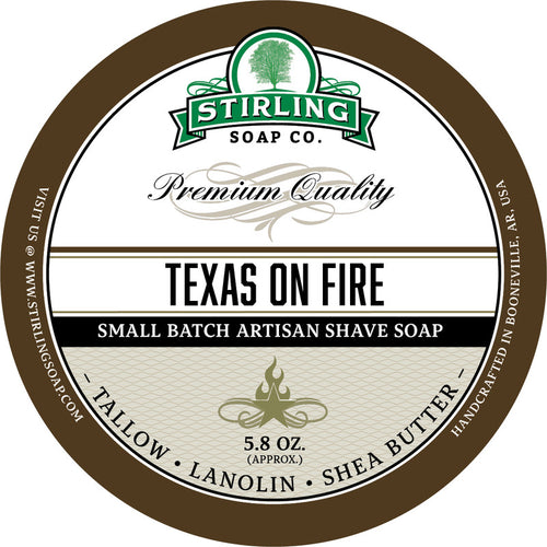 STIRLING SOAP CO TEXAS ON FIRE SHAVE SOAP 5.8 OZ