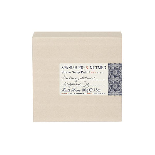 BATH HOUSE SPANISH FIG & NUTMEG SHAVE SOAP REFILL 3.5 OZ