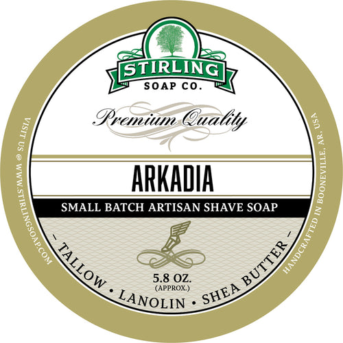 STIRLING SOAP CO ARKADIA SHAVE SOAP 5.8 OZ