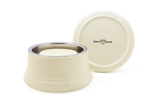 EDWIN JAGGER RNL07 WHITE PORCELAIN SHAVING SOAP BOWL WITH LID