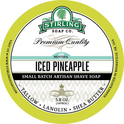 STIRLING SOAP CO ICED PINEAPPLE SHAVE SOAP 5.8 OZ