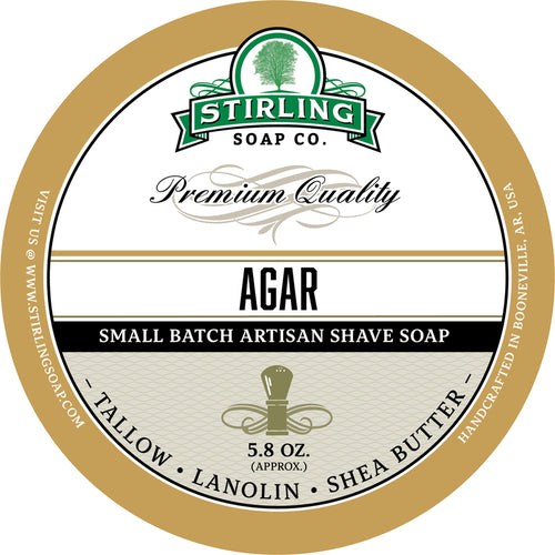 STIRLING SOAP CO AGAR SHAVE SOAP 5.8 OZ