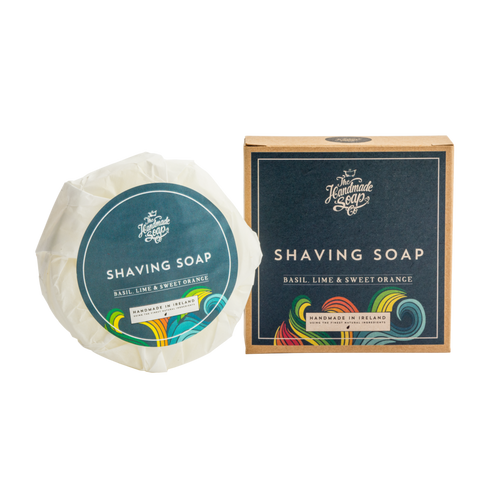 THE HANDMADE SOAP BASIL, LIME, & SWEET ORANGE SHAVING SOAP, 110g