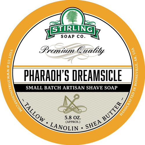 STIRLING SOAP CO PHARAOH'S DREAMSICLE SHAVE SOAP 5.8 OZ