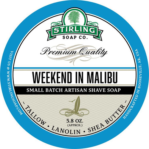 STIRLING SOAP CO WEEKEND IN MALIBU SHAVE SOAP 5.8 OZ