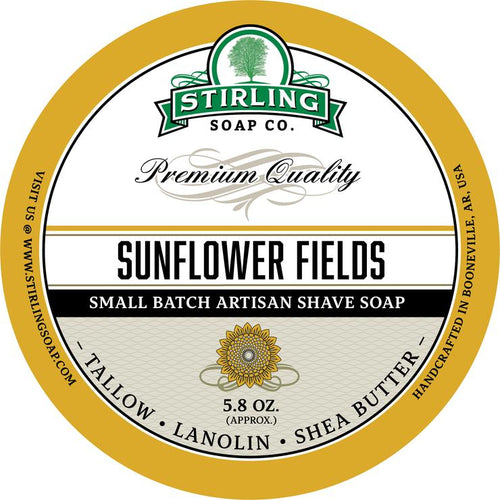STIRLING SOAP CO SUNFLOWER FIELDS SHAVE SOAP 5.8 OZ