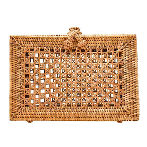 Milky Quartz Bags & Wallets EVIE Rattan Clutch