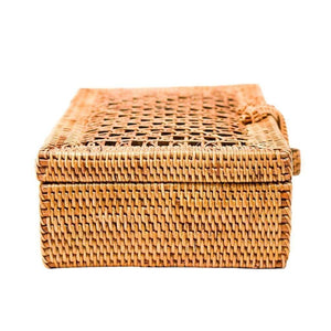 Milky Quartz Bags & Wallets Rattan EVIE Clutch
