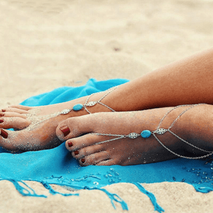 Peridot Jewelry & Watches Barefoot Sandals - Boho Turquoise Anklet