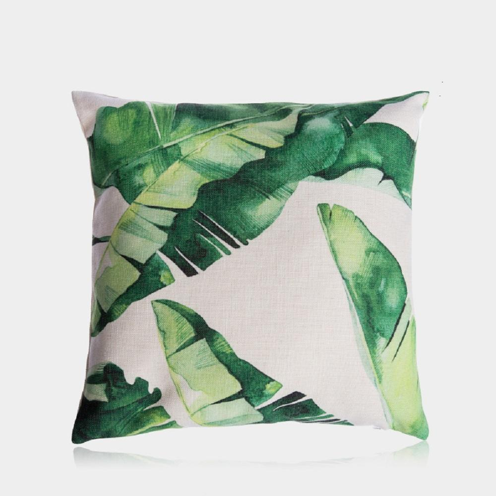 "Purple Artemis Home & Garden Banana Leaves Pillow Cover 18"" x 18"""