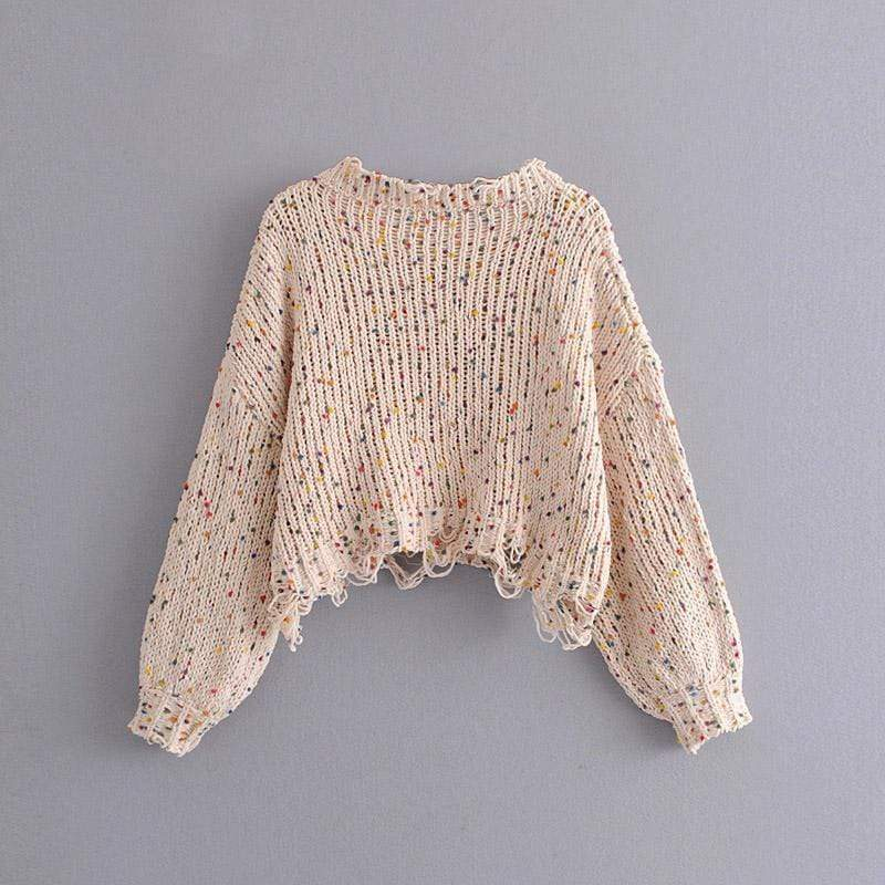 Silver Sam Sweaters & Hoodies Multi Mix Tassel Knitted Sweaters Crochet