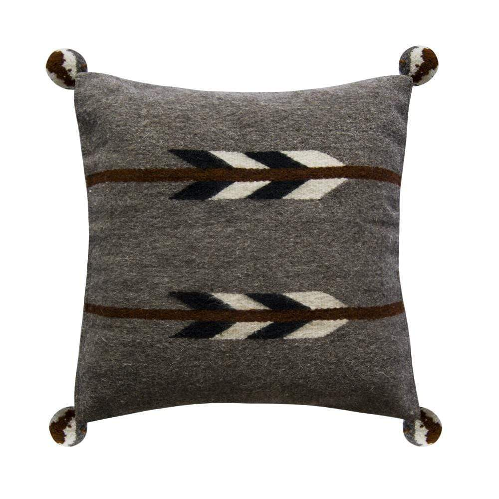 Violet Athena Women's Clothing Native American Pillow Cover, Gray Arrow Pillow
