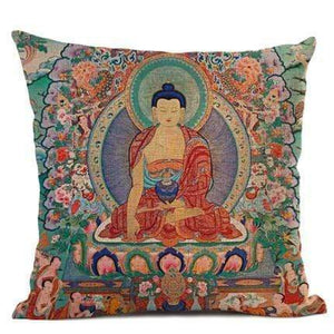 Thangka Tibetan Buddhist Painting Cushion Covers WickedAF 01