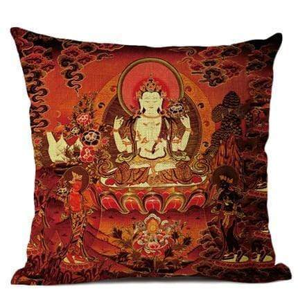 Thangka Tibetan Buddhist Painting Cushion Covers WickedAF 02