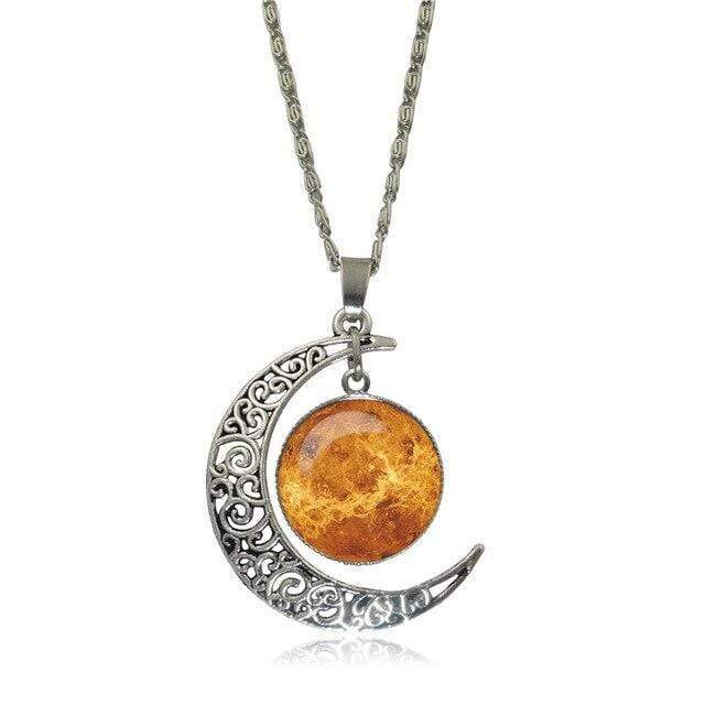 Double Moon Necklace (8 Colors) WickedAF 1