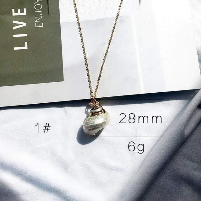 Sea Shell Pendant Necklace (13 Styles) WickedAF 1
