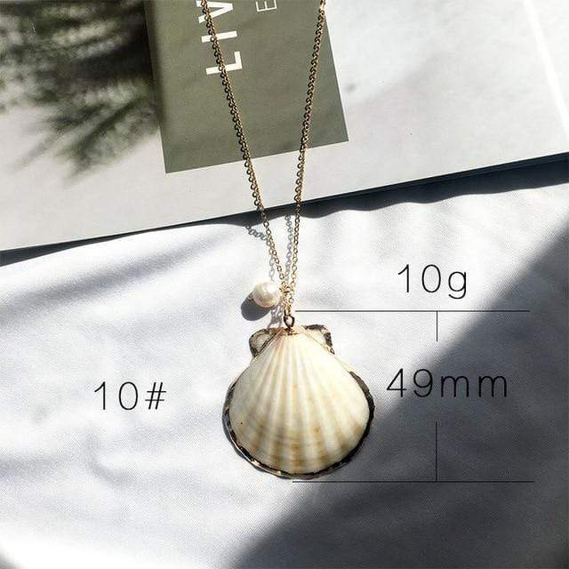 Sea Shell Pendant Necklace (13 Styles) WickedAF 10